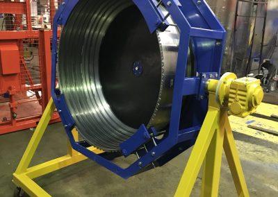 Manually Powered, Rotating Component Handling Frame