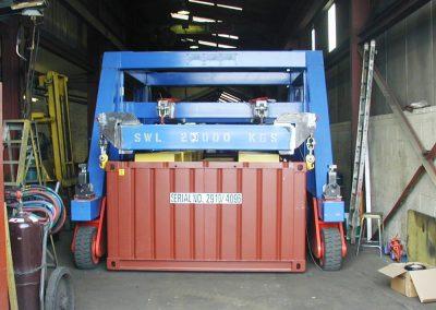 Container transporter frame